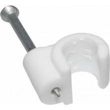 White Coaxial Cable Clip