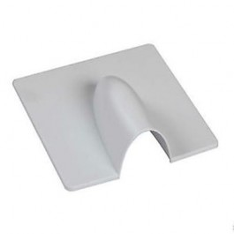 White Brick Blast Burst Coax Cable Wall Cover Plate Sky Wall Bracket