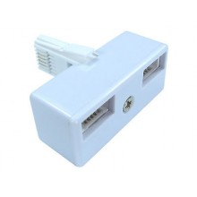 2 WAY ADAPTOR SPLITTER PLUG BT DOUBLE TWIN PHONE PX