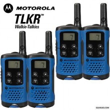 2 x Motorola TLKR T41 2 Way Walkie Talkie Set PMR 446 Radio Kit - Blue TWIN Pack