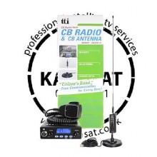 CB Radio Mobile Starter Kit TTI TCB550 with Springer Antenna and Mount 0.89m