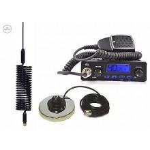 CB RADIO TTI TCB-550 + SPRINGER BLACK + MAGNES BASE  CB STARTER KIT