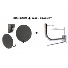 SAT-DISHCORAB80CM-BRACKET40CM