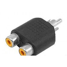 RCA Phono Audio Video Y Splitter Socket Adapter Cable TV Lead