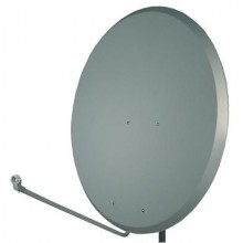 SATELLITE DISH S.A.C. 1.2m Steel Dish CHARCOAL with pole bracket fixing kit.
