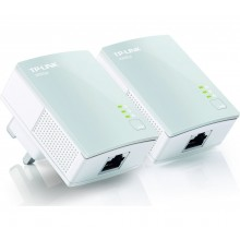 Powerline Adapter Twin Pack White Ethernet Port TP-LINK TL-PA4010KIT AV600