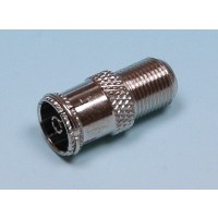 F Type Connector Socket to RF Coax Aerial Female Adapter x 5