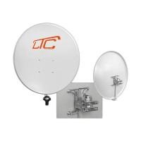 Satellite Antenna Dish 80cm 800mm White Galvanized steel Aluminum Astra Hotbird