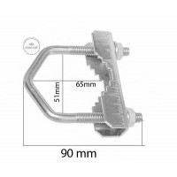 Satellite Dish Sky Clamp for Bracet, Freesat Polsat Small u-bolt
