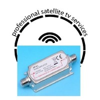 Satellite Line Amplifier  5-2400 MHz 20 dB FP 6 L