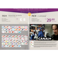 Dekoder Telewizja na karte NC+ HD Canal+ Cyfrowy Polsat Polska Telewizja Sport