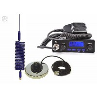 TTI TCB-550 CB RADIO + CB ANTENNA  SPRINGER BLUE + MAG MOUNT