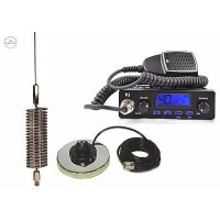 CB STARTER KIT TTI 550 CB RADIO CB MAGNETIC ANTENNA SPRINGER CHROME 1550mm