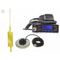 TTI TCB-550 CB RADIO + CB ANTENNA  SPRINGER YELLOW + MAG MOUNT