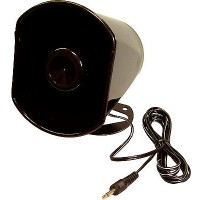 "Weatherproof 5"" plastic horn speaker for srisp sound reproduction, ideal for CB, PA and security systems. Supplied with 10ft cord with 3.5mm plug."